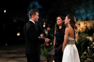 "THE BACHELORETTE - ""Episode 1101A"" - America fell in love with two very different but dynamic Bachelorettes last season - Britt Nilsson and Kaitlyn Bristowe. It was hard to choose between the beautiful, charming Britt and the gorgeous, fun-loving, wise cracking Kaitlyn. So now, 25 eligible bachelors will choose between these two amazing women. For the first time in franchise history there will be two Bachelorettes. Chris Soules sent both ladies home broken hearted, but now with another chance at love, both women are ready to take a journey they hope will wind up happily ever after, on ""The Bachelorette"" two-night premiere event, MONDAY, MAY 18 (9:01-11:00 p.m., ET) and TUESDAY, MAY 19 (8:00-9:00 p.m, ET), on the ABC Television Network. (ABC/Rick Rowell) CORY, KAITLYN BRISTOWE, BRITT NILSSON"